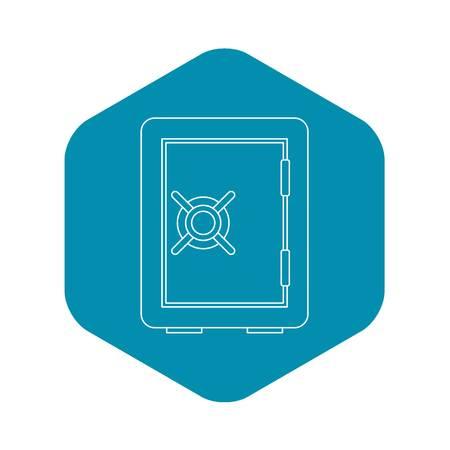 Safety deposit box icon. Outline illustration of safety deposit box vector icon for web