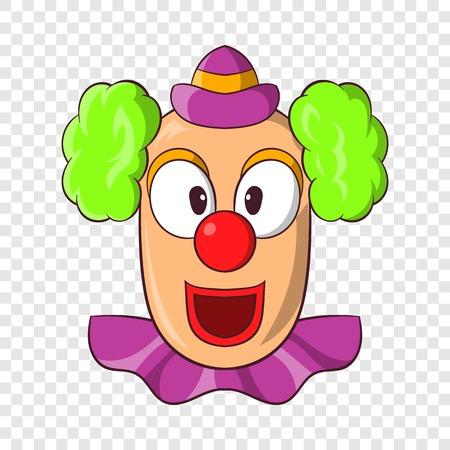 Head of clown icon, cartoon style