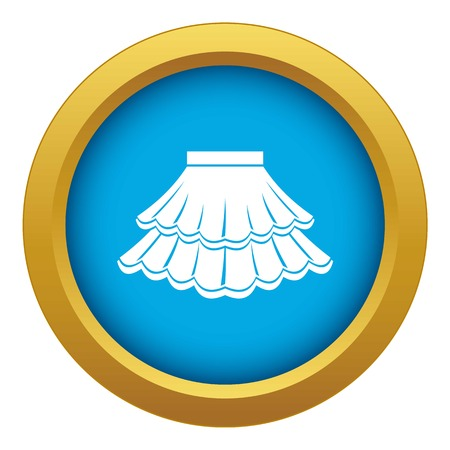 Skirt icon blue vector isolated