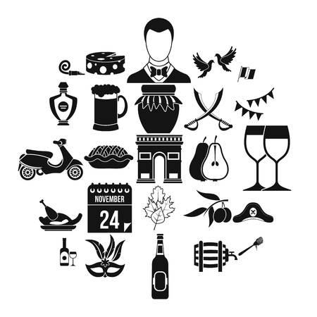 Binge icons set. Simple set of 25 binge icons for web isolated on white background Çizim