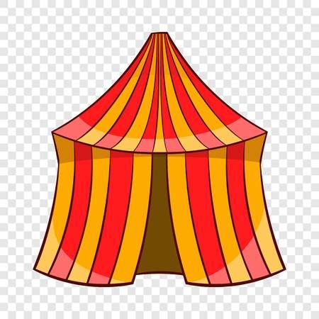 Circus tent icon, cartoon style