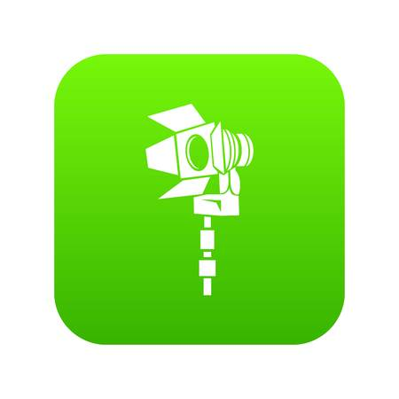 Movie light icon green vector isolated on white background  イラスト・ベクター素材