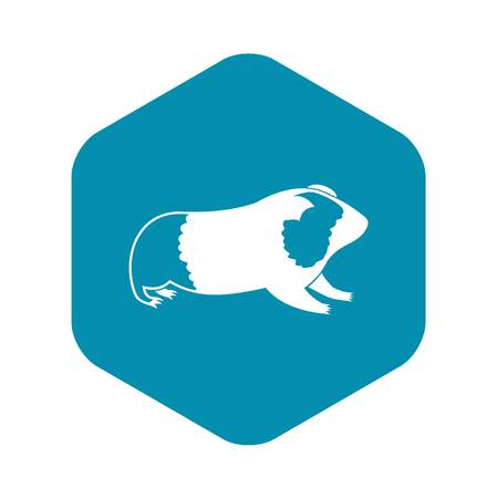 Hamster icon in simple style isolated on white background