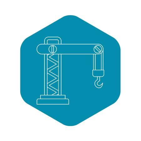 Crane icon. Outline illustration of crane vector icon for web