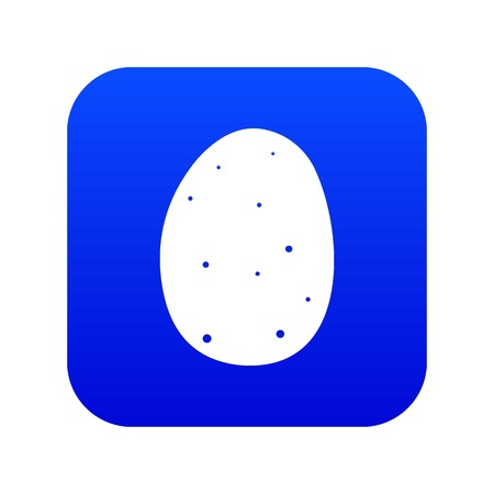 Fresh potato icon digital blue Illustration