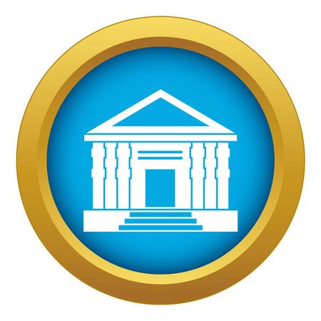 Colonnade icon blue vector isolated