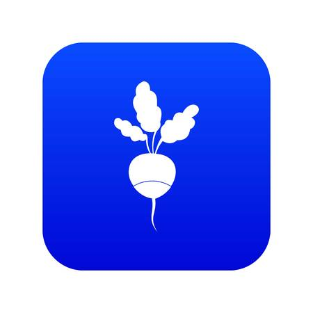 Fresh radish icon digital blue for any design isolated on white vector illustration Ilustração
