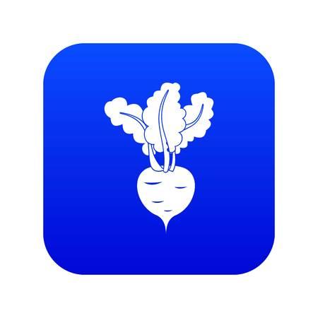 白いベクトルのイラストで分離された任意のデザインのための新鮮なビートルートアイコンデジタルブルー