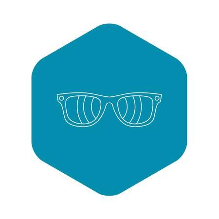 Sunglasses icon. Outline illustration of sunglasses vector icon for web