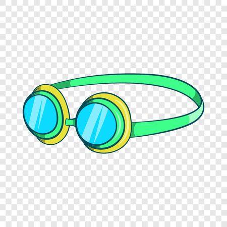 Goggles icon, cartoon style