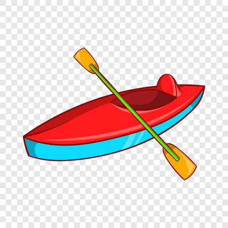 Kayak icon, cartoon style