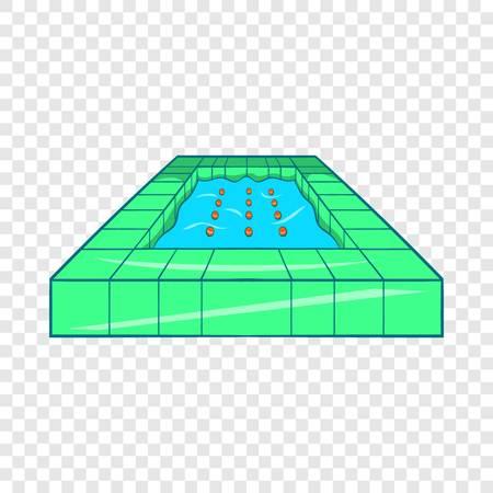 Pool icon, cartoon style