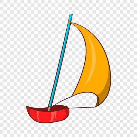 Yacht icon, cartoon style