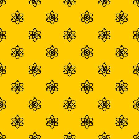 Atomic model pattern seamless vector repeat geometric yellow for any design