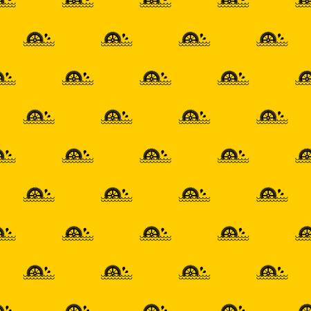 Waterwheel pattern seamless vector repeat geometric yellow for any design