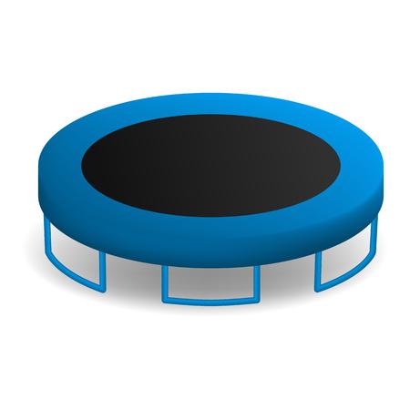 Jumping trampoline icon. Realistic illustration of jumping trampoline vector icon for web design isolated on white background Çizim