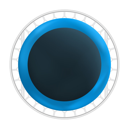 Top view trampoline icon, realistic style