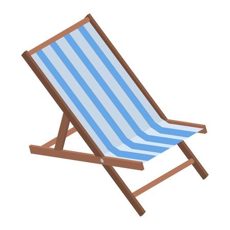 Strandkorb-Symbol. Isometrische Strandstuhl-Vektorikone für Webdesign lokalisiert auf weißem Hintergrund Vektorgrafik