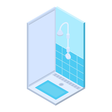 Public shower bath icon. Isometric of public shower bath vector icon for web design isolated on white background