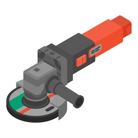 Cutting angle grinder icon. Isometric of cutting angle grinder vector icon for web design isolated on white background