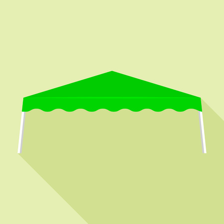 Green tent icon. Flat illustration of green tent vector icon for web design Illustration