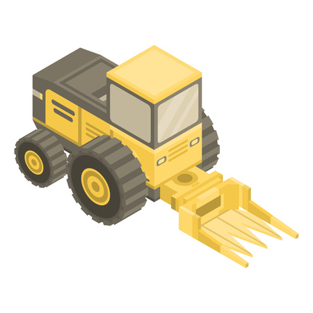 Forage harvester icon. Isometric of forage harvester vector icon for web design isolated on white background