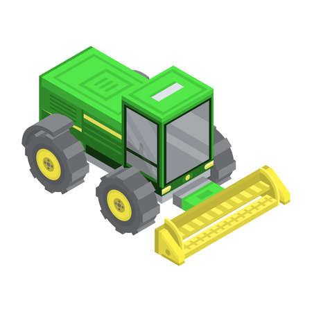 Farm machinery icon. Isometric of farm machinery vector icon for web design isolated on white background Vectores