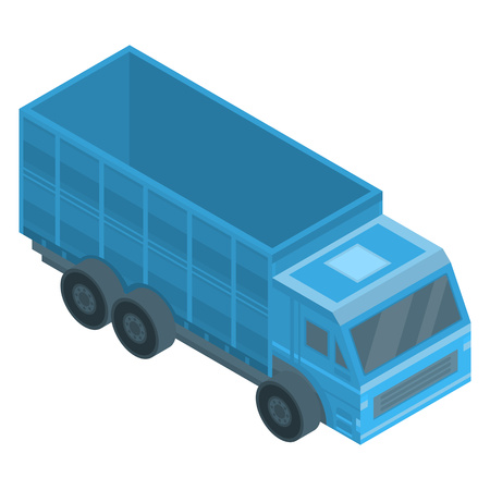 Farm truck icon. Isometric of farm truck vector icon for web design isolated on white background Illustration