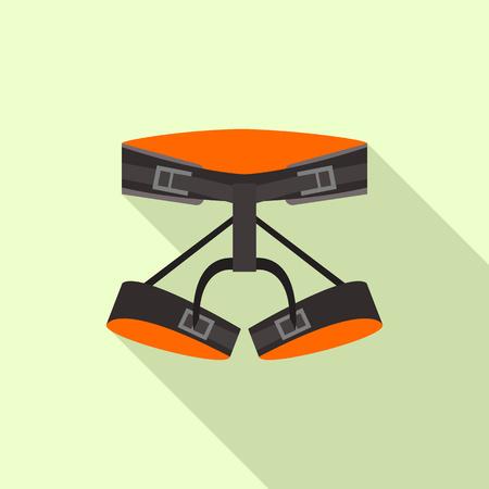 Belt hiking equipment icon, flat style