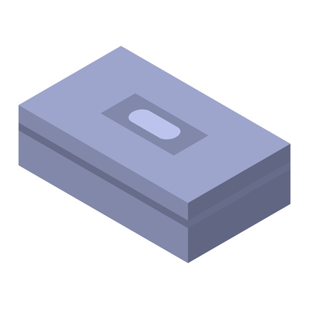 Garage box icon, isometric style