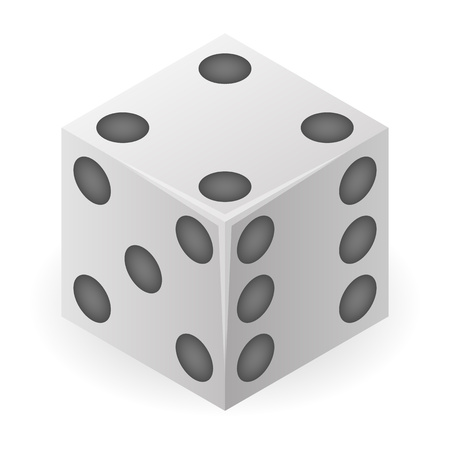 Plastic dice icon. Isometric of plastic dice vector icon for web design isolated on white background