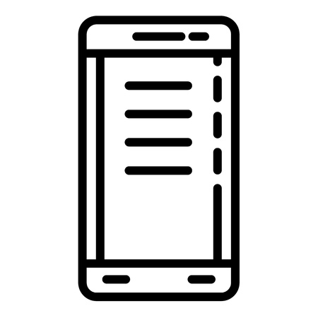 Police smartphone icon. Outline police smartphone vector icon for web design isolated on white background Banque d'images - 125008569