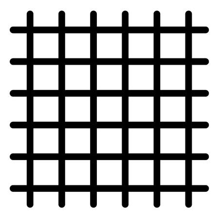 Prison bars icon. Outline prison bars vector icon for web design isolated on white background Ilustração