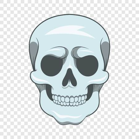 Skull icon, cartoon style
