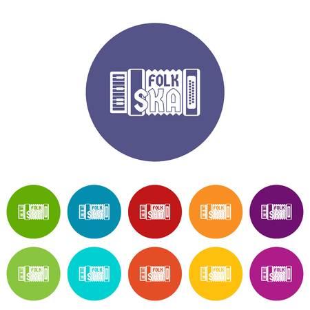 Les icônes d'accordéon définissent la couleur du vecteur Vecteurs