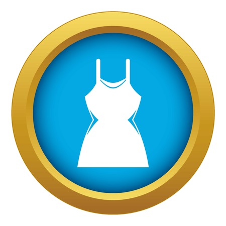 Little dress icon blue vector isolated