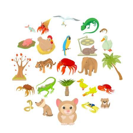 Animal shelter icons set. Cartoon set of 25 animal shelter vector icons for web isolated on white background Ilustração