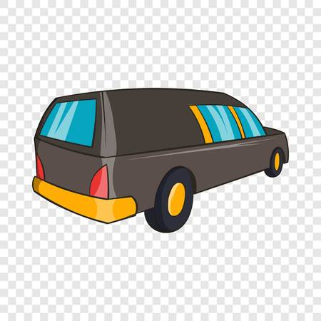 Hearse icon in cartoon style isolated on background for any web design