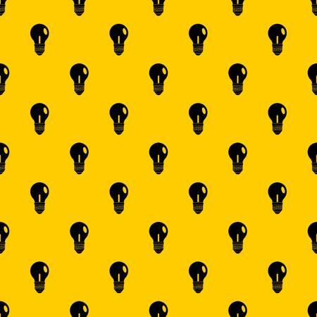 Light bulb pattern seamless vector repeat geometric yellow for any design