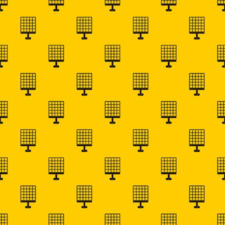 Solar panel pattern seamless vector repeat geometric yellow for any design Archivio Fotografico - 117521043