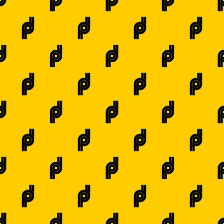 Little road junction pattern vector Illustration