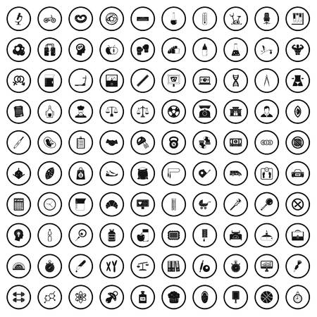 100 libra icons set in simple style for any design vector illustration
