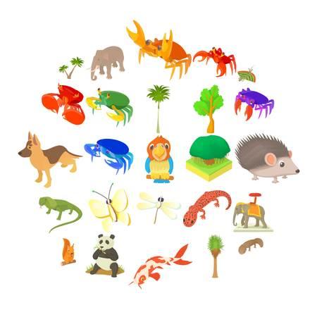 Animal husbandry icons set. Cartoon set of 25 animal husbandry vector icons for web isolated on white background