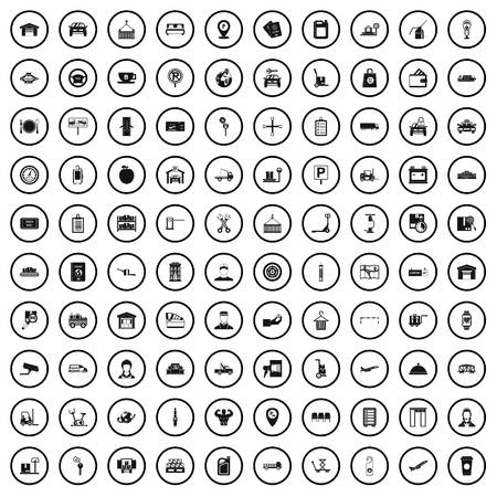 100 loader icons set in simple style for any design vector illustration Ilustrace