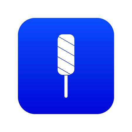 Ice Cream icon digital blue for any design isolated on white vector illustration Ilustração