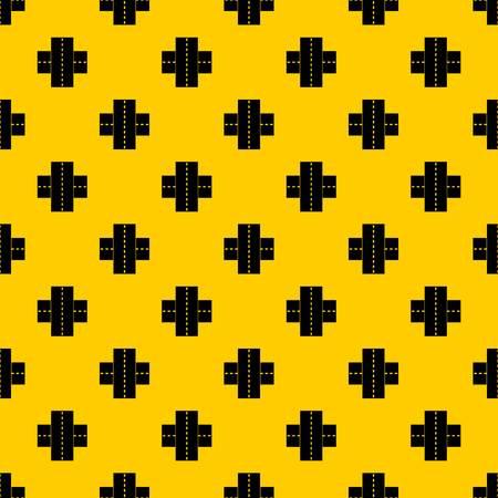 Two roads pattern vector