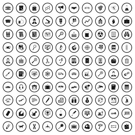 100 magnifier icons set in simple style for any design vector illustration