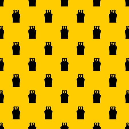 Sleeveless shirt pattern seamless vector repeat geometric yellow for any design