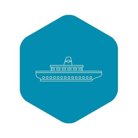 Passenger ship icon. Outline illustration of passenger ship vector icon for web Illustration