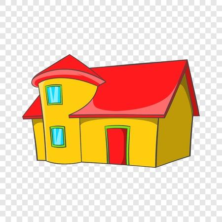 Real estate icon, cartoon style
